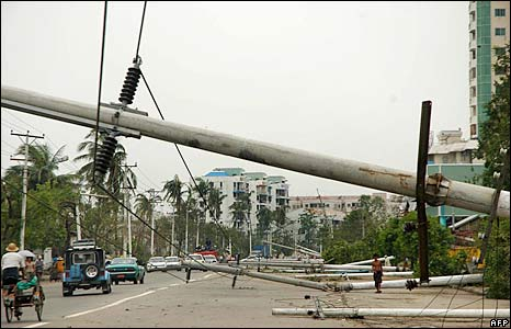 Cyclone Nargis in Yangon Myanmar