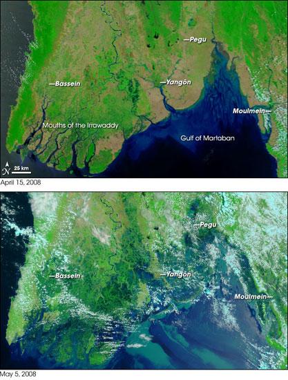 Myanmar Coastline after Cyclone Nargis